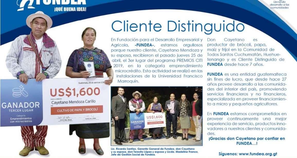 3er. Lugar Premios CITI 2019